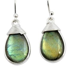 11.92cts natural blue labradorite 925 sterling silver dangle earrings r44947
