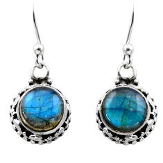 5.08cts natural blue labradorite 925 sterling silver dangle earrings r53056