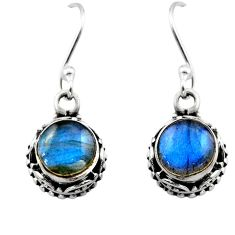 5.12cts natural blue labradorite 925 sterling silver dangle earrings r53058