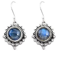 5.13cts natural blue labradorite 925 sterling silver dangle earrings r55272