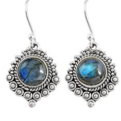 4.92cts natural blue labradorite 925 sterling silver dangle earrings r55275