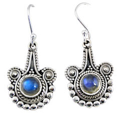 2.81cts natural blue labradorite 925 sterling silver dangle earrings r55296