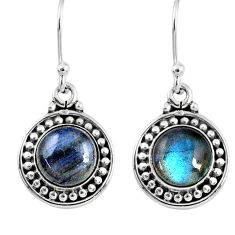 5.38cts natural blue labradorite 925 sterling silver dangle earrings r60536