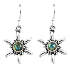 2.54cts natural blue labradorite 925 sterling silver dangle earrings r65109