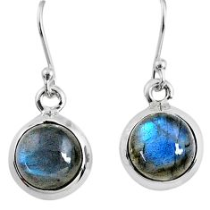 7.96cts natural blue labradorite 925 sterling silver dangle earrings r66421