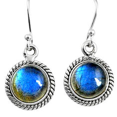 7.97cts natural blue labradorite 925 sterling silver dangle earrings r66422