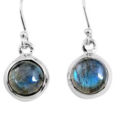 7.48cts natural blue labradorite 925 sterling silver dangle earrings r66425
