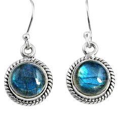 7.81cts natural blue labradorite 925 sterling silver dangle earrings r66426