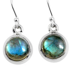 7.48cts natural blue labradorite 925 sterling silver dangle earrings r66429