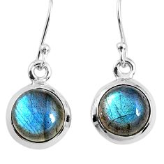 7.52cts natural blue labradorite 925 sterling silver dangle earrings r66430