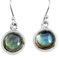 7.42cts natural blue labradorite 925 sterling silver dangle earrings r66431