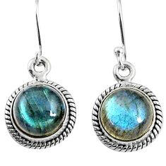 8.26cts natural blue labradorite 925 sterling silver dangle earrings r66433