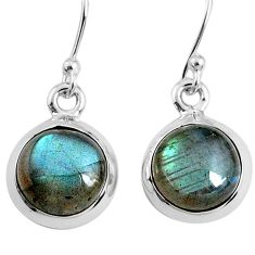 7.11cts natural blue labradorite 925 sterling silver dangle earrings r66437