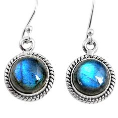 7.81cts natural blue labradorite 925 sterling silver dangle earrings r66440