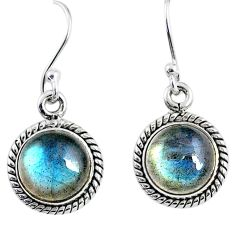 7.93cts natural blue labradorite 925 sterling silver dangle earrings r66449
