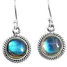 7.56cts natural blue labradorite 925 sterling silver dangle earrings r66452