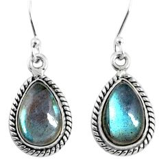 8.87cts natural blue labradorite 925 sterling silver dangle earrings r66453