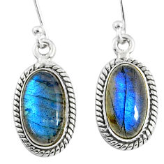 9.18cts natural blue labradorite 925 sterling silver dangle earrings r66488