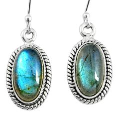 9.18cts natural blue labradorite 925 sterling silver dangle earrings r66490