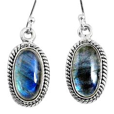 9.14cts natural blue labradorite 925 sterling silver dangle earrings r66491