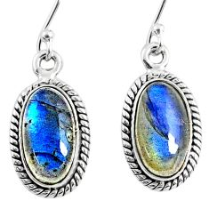 9.20cts natural blue labradorite 925 sterling silver dangle earrings r66494