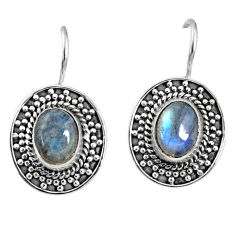 4.51cts natural blue labradorite 925 sterling silver dangle earrings r67217
