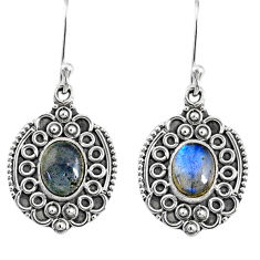 4.52cts natural blue labradorite 925 sterling silver dangle earrings r67219