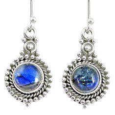 5.63cts natural blue labradorite 925 sterling silver dangle earrings r74916