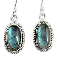 9.61cts natural blue labradorite 925 sterling silver dangle earrings r75220
