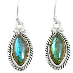 10.32cts natural blue labradorite 925 sterling silver dangle earrings r77276