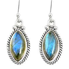 9.70cts natural blue labradorite 925 sterling silver dangle earrings r77282