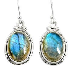 12.77cts natural blue labradorite 925 sterling silver dangle earrings r77289