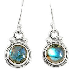 3.42cts natural blue labradorite 925 sterling silver dangle earrings r77306