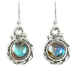 3.18cts natural blue labradorite 925 sterling silver dangle earrings r77313