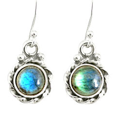 3.17cts natural blue labradorite 925 sterling silver dangle earrings r77327