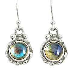 3.18cts natural blue labradorite 925 sterling silver dangle earrings r77331