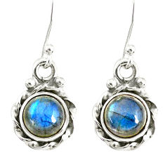3.21cts natural blue labradorite 925 sterling silver dangle earrings r77334