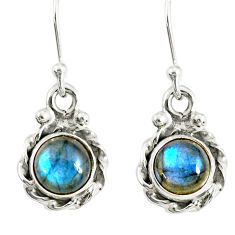 3.18cts natural blue labradorite 925 sterling silver dangle earrings r77339