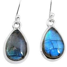 9.20cts natural blue labradorite 925 sterling silver dangle earrings t15997