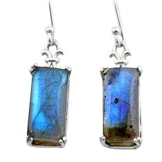 11.65cts natural blue labradorite 925 sterling silver dangle earrings t44603