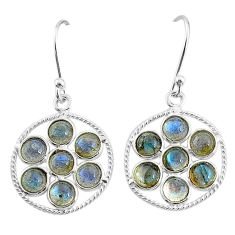 5.43cts natural blue labradorite 925 sterling silver dangle earrings t4616