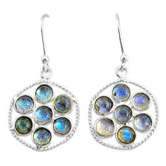 5.40cts natural blue labradorite 925 sterling silver dangle earrings t4619