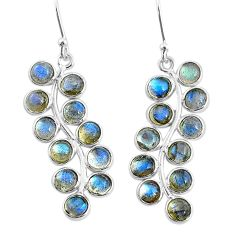 10.08cts natural blue labradorite 925 sterling silver dangle earrings t4637