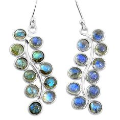 9.68cts natural blue labradorite 925 sterling silver dangle earrings t4639