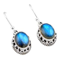 5.80cts natural blue labradorite 925 sterling silver dangle earrings t46873