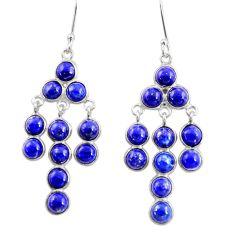 15.31cts natural blue lapis lazuli 925 silver chandelier earrings d39826