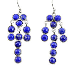 16.88cts natural blue lapis lazuli 925 silver chandelier earrings jewelry r33419