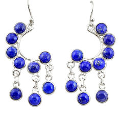 15.36cts natural blue lapis lazuli 925 silver chandelier earrings jewelry r33490