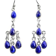 10.15cts natural blue lapis lazuli 925 silver chandelier earrings r37550