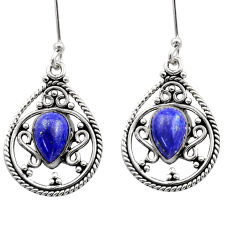 blue lapis lazuli 925 sterling silver dangle earrings d40902